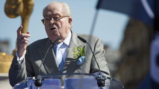 Jean-Marie Le Pen wypowiedział się ostro o córce (fot. PAP/EPA/JEREMY LEMPIN)
