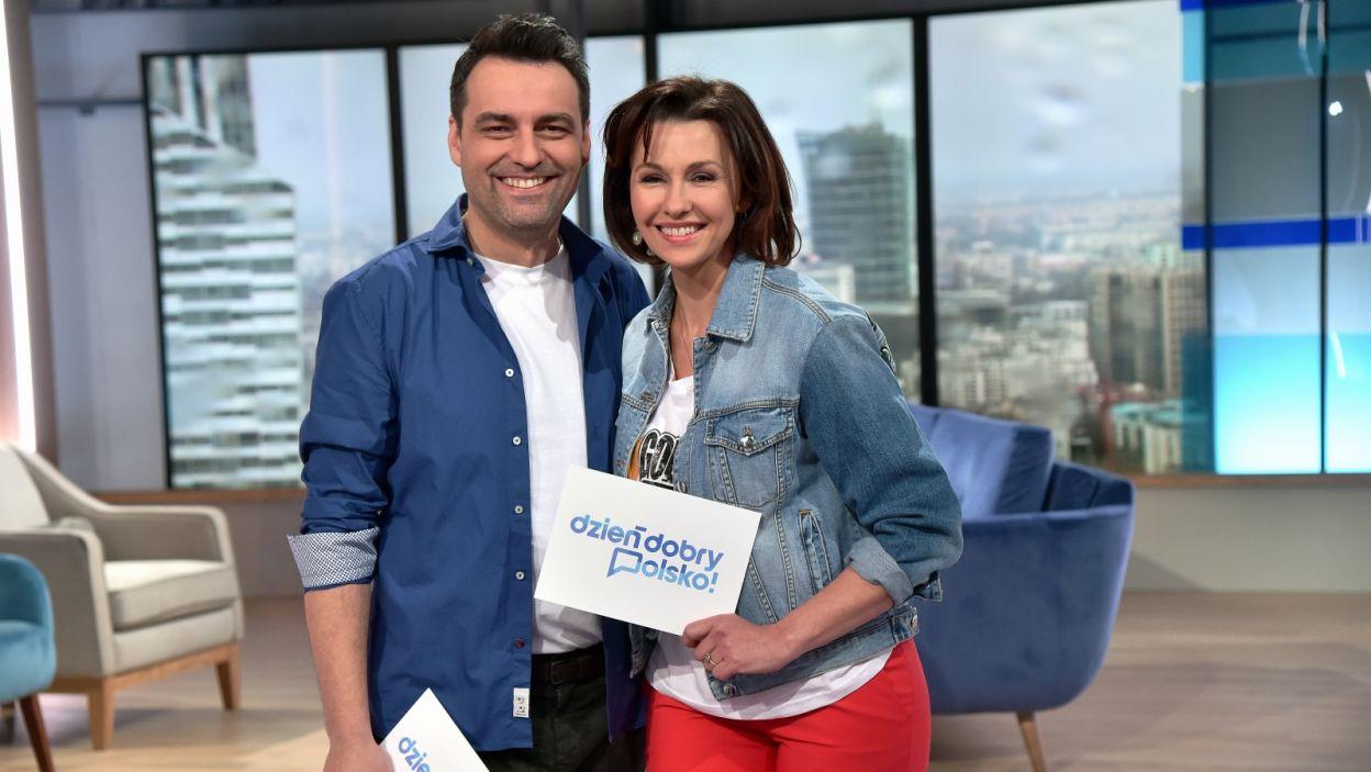 Para prowadzących, która powita nas w drugim wydaniu programu: Anna Popek i Tomasz Mandes (fot. Ireneusz Sobieszczuk/TVP)