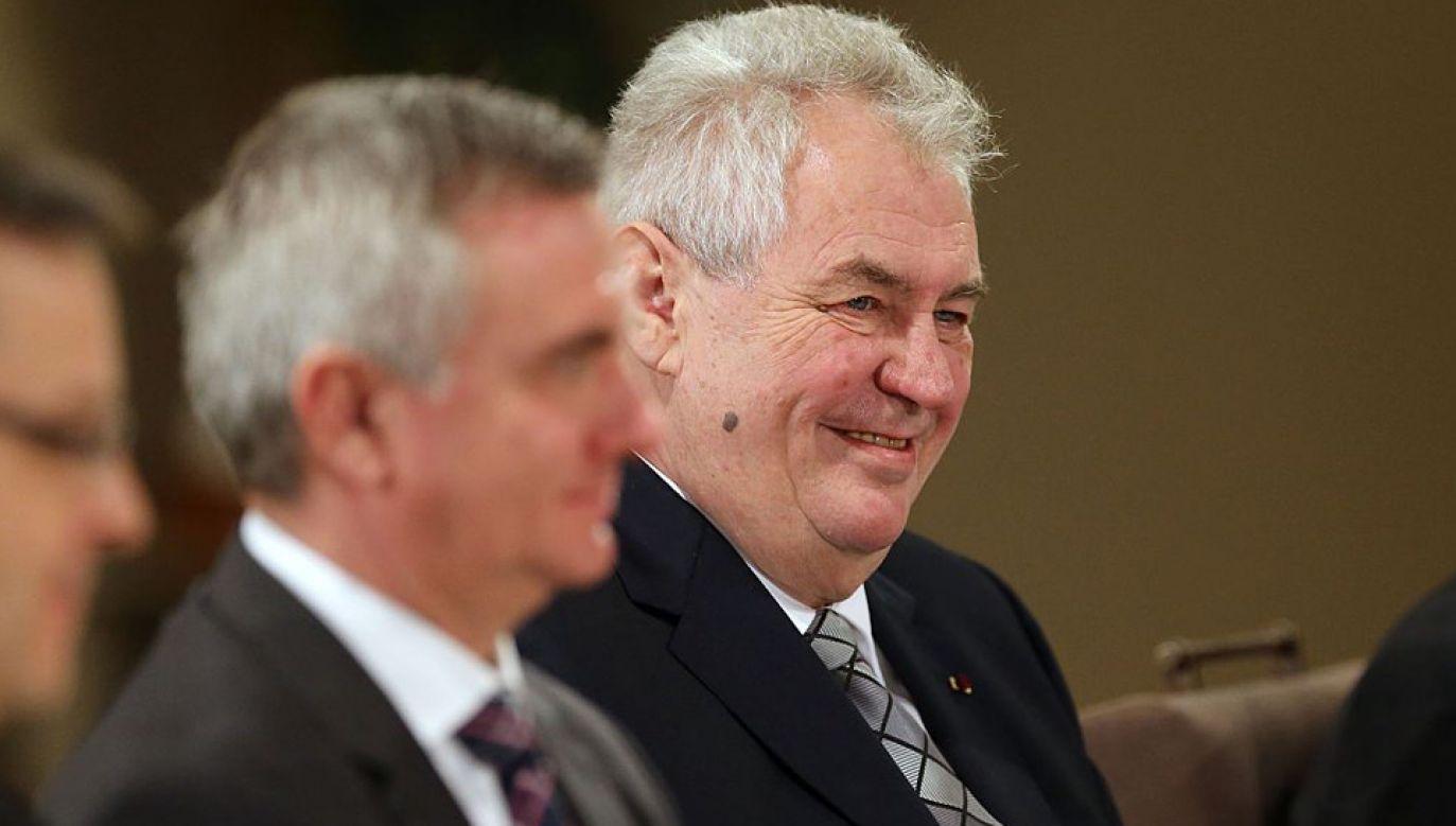 Prezydent Czech Milosz Zeman (fot. Salah Malkawi/Anadolu Agency/Getty Images)