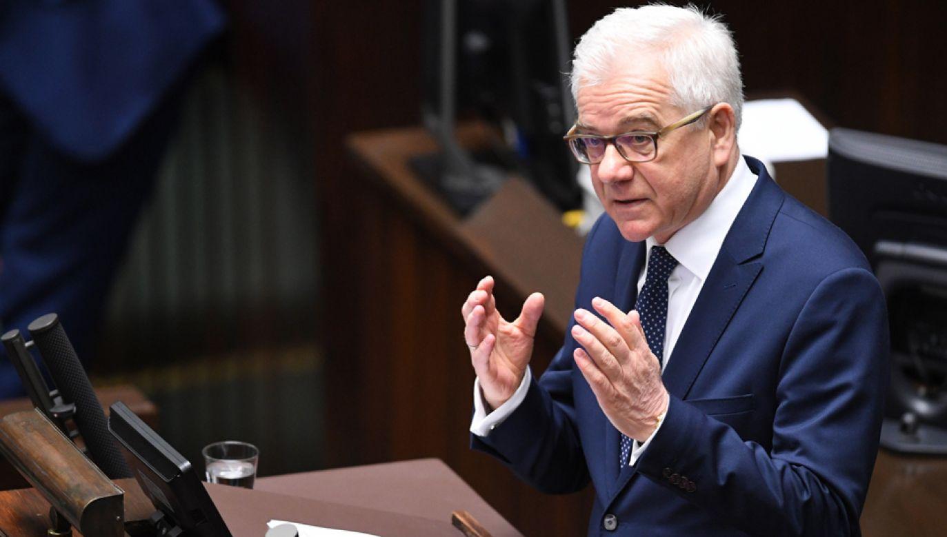Minister spraw zagranicznych Jacek Czaputowicz  (fot. PAP/Radek Pietruszka)