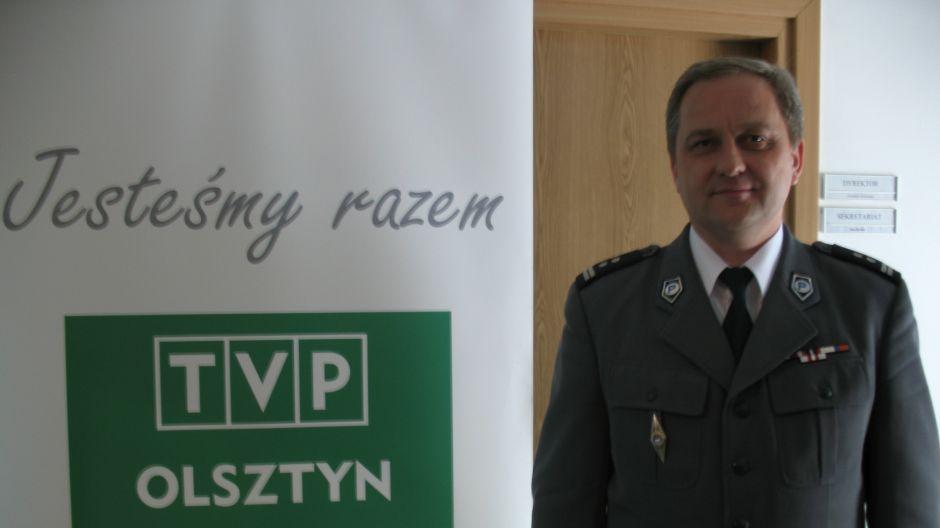 mł. insp. Mieczysław Wójcik, miejski komendant policji w Olsztynie.