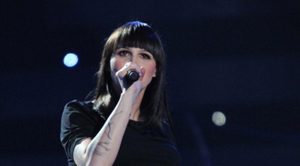 Na scenie też pojawiła się w podwójnej roli – jest w siódmym miesiącu ciąży (fot. Ireneusz Sobieszczuk/TVP)