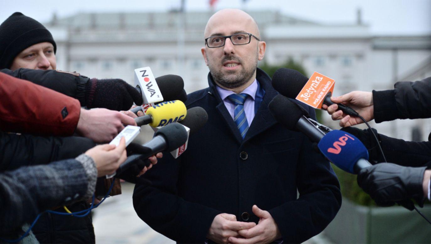 Rzecznik prezydenta Krzysztof Łapiński poinformował, że prezydent wiedział o zmianie na stanowisku premiera (fot. PAP/Jacek Turczyk)