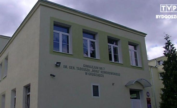 Pijana nauczycielka w gimnazjum w Grudziądzu