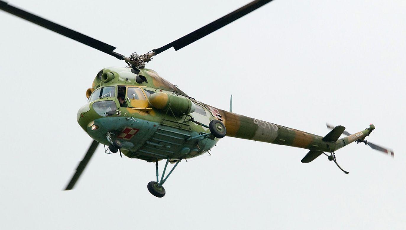 Śmigłowiec Mi-2 bezpiecznie wrócił do bazy (fot. Wiki/bomberpilot)