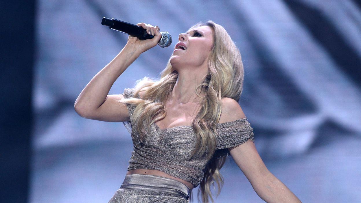 """Kasia Moś okazała się bezkonkurencyjna i to właśnie jej piosenkę """"Flashlight"""" usłyszymy podczas wielkiego finału w Kijowie (fot. Jan Bogacz/TVP)"""