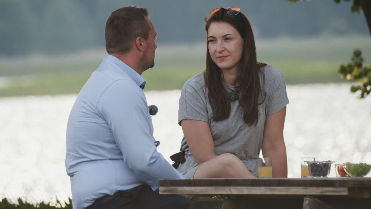 Również Martyna okazała Grzegorzowi wiele czułości. – Czułam iskry między nami – powiedziała po spotkaniu (fot. TVP)