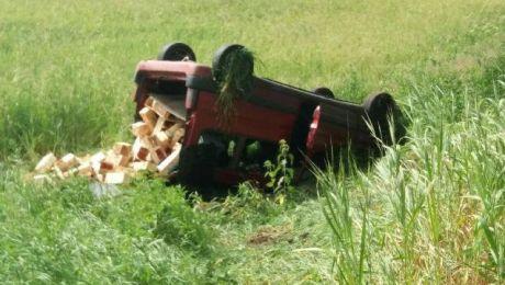 Do jednego z wypadków doszło na trasie Święta Lipka-Pilec (fot. KWP Olsztyn)