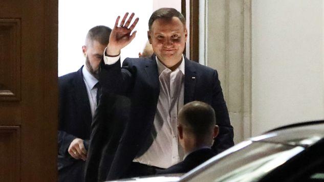Prezydent Andrzej Duda w Belwederze spotkał się z prezesem Prawa i Sprawiedliwości (fot. PAP/Rafał Guz)