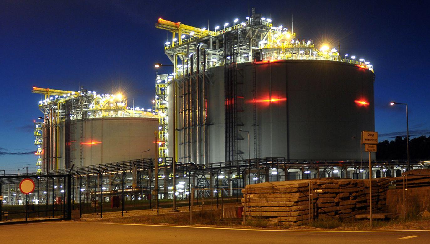 Terminal LNG w Świnoujściu (fot. arch/PAP/Marcin Bielecki)