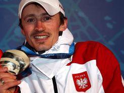 Adam Małysz w Vancouver dwukrotnie stanął na drugim stopniu podium (fot. Getty Images)