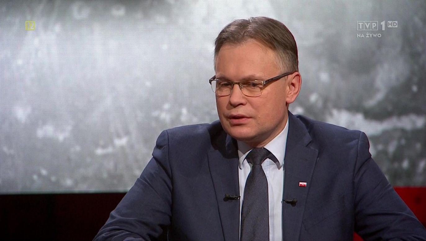 Arkadiusz Mularczyk, poseł PiS, przewodniczący parlamentarnego zespołu ds. reparacji (fot.tvp.info)