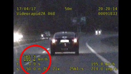 Pędził o blisko 100 km/h za szybko (mat KWP Bydgoszcz)