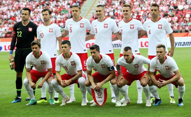 Reprezentacja Polski przed meczem z Litwą (fot. PAP/Leszek Szymański)