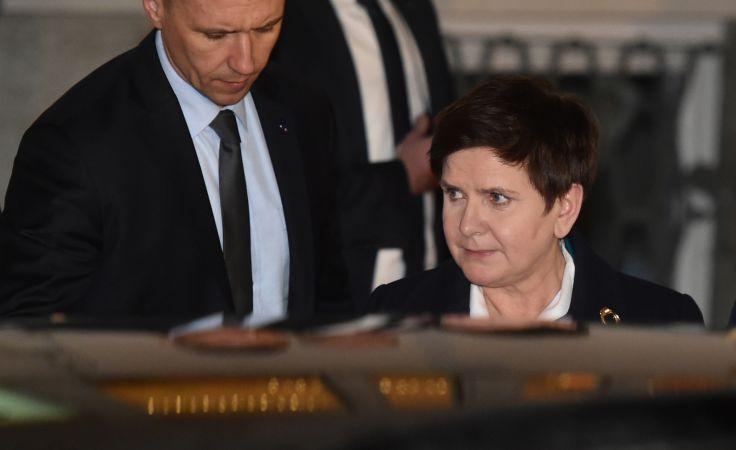 Premier zeznawała w charakterze świadka wypadku kolumny rządowej (fot. PAP/Jacek Bednarczyk)