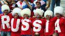 Kibice rosyjscy na Stadionie Narodowym (fot. Getty Images)