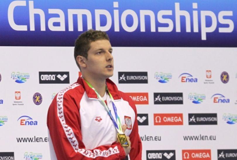 Konrad Czerniak z drugim złotym medalem mistrzostw Europy (fot. PAP)