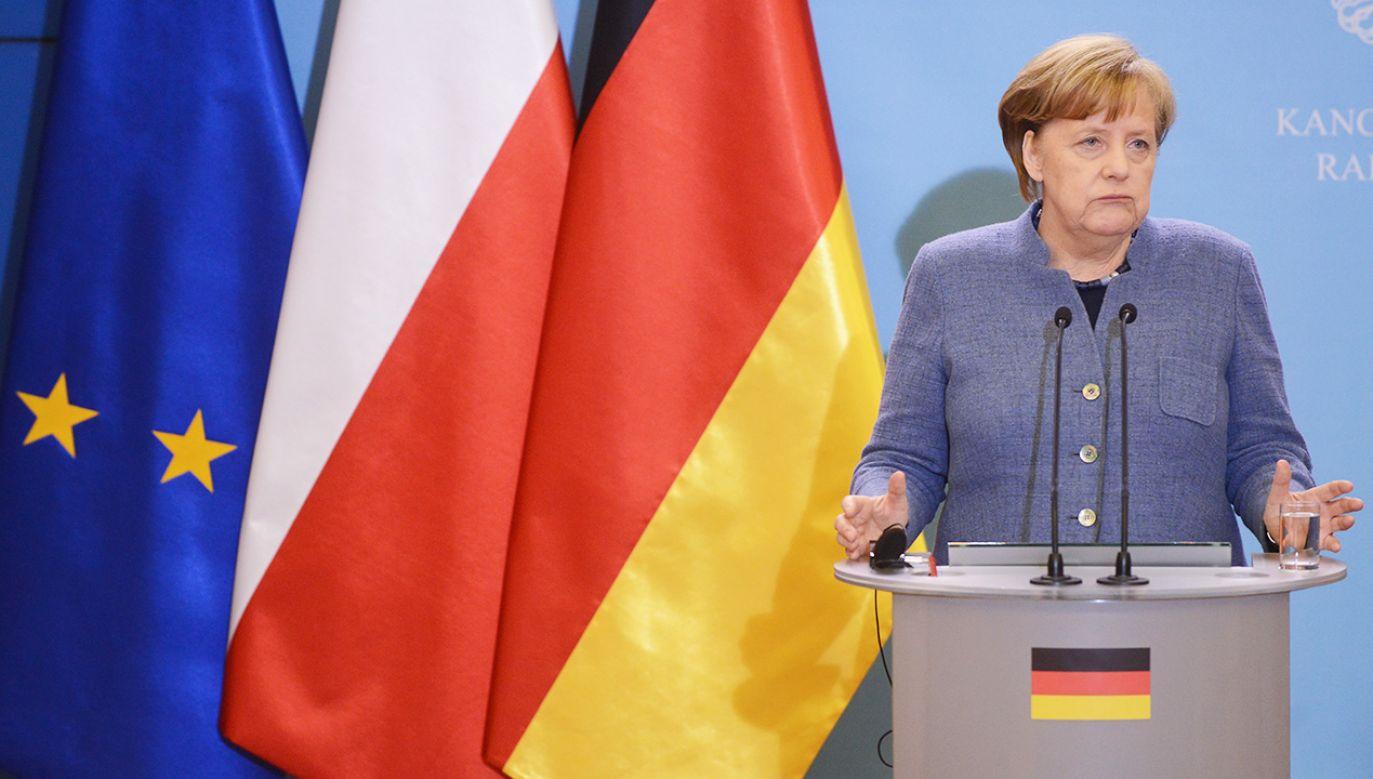 Kanclerz Niemiec Angela Merkel (fot.  PAP/Jakub Kamiński)