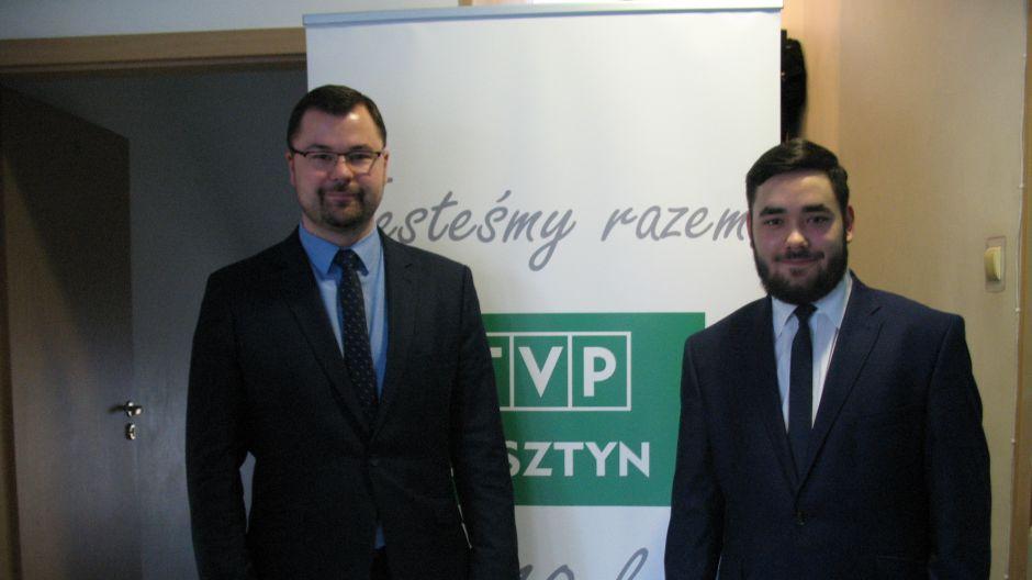 Łukasz Łukaszewski, radny PO oraz Igor Wilk, Młodzieżowa Rada Miasta.