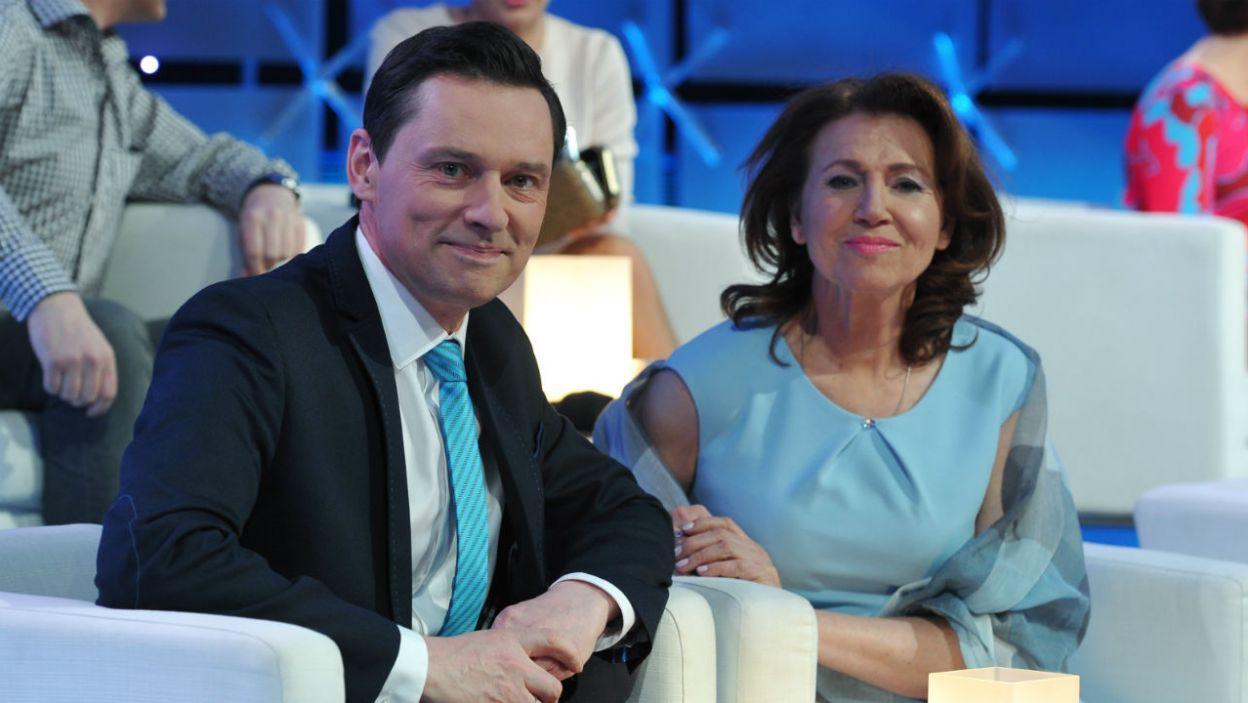 Krzysztof Ziemiec mógł liczyć na wsparcie merytoryczne Haliny Frąckowiak (fot. TVP/K.Kurek)