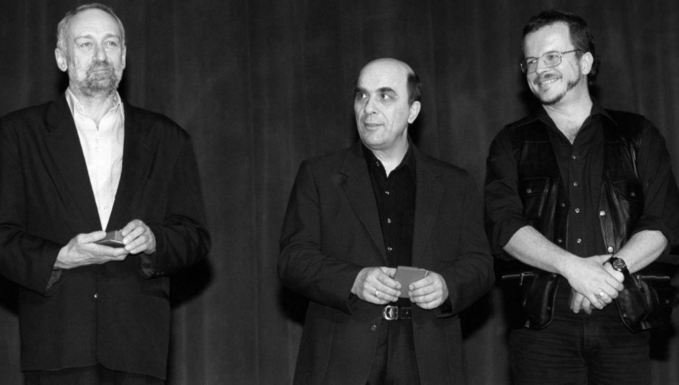 Przemysław Gintrowski, Zbigniew Łapiński i Jacek Kaczmarski (fot. FB/lapinskizbigniew)