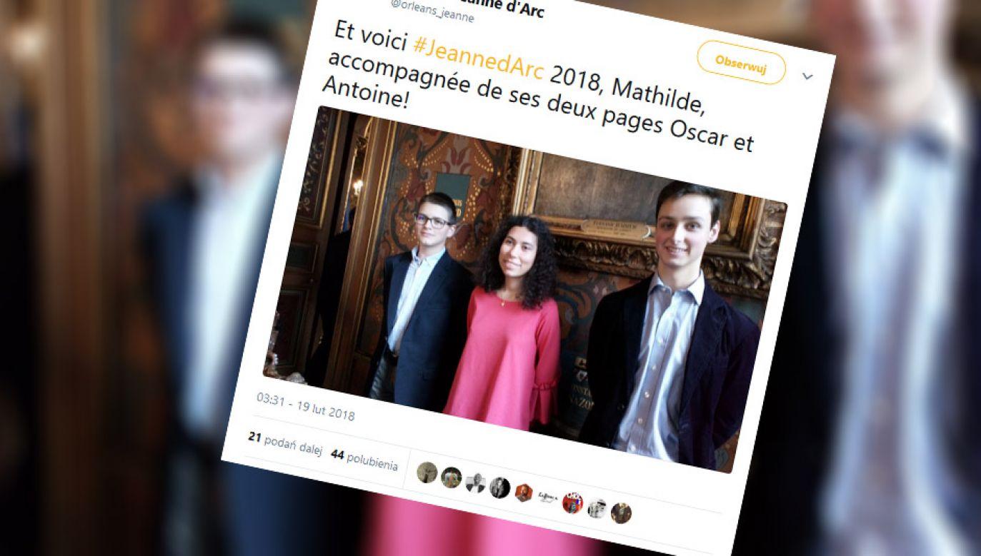 Przewodnicząca komitetu, który wybiera Joannę d'Arc powiedziała, że dziewczynę wybrano ze względu na jej charakter. (fot. tt/@orleans_jeanne)
