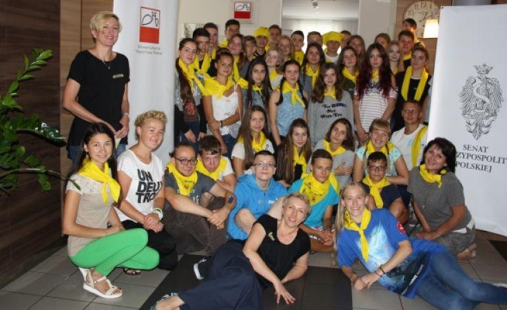 Uczestnicy obozu to młodzież w wieku od 15 do 17 lat (fot. Stowarzyszenie Wspólnota Polska)