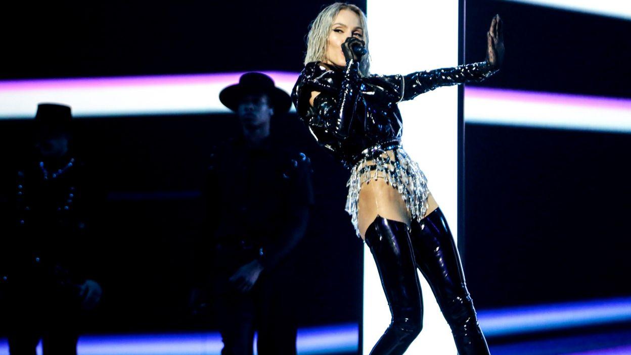 """Tamta to bardzo energiczna i zjawiskowa wokalistka z Cypru. Mimo, że jej przebój """"Replay"""" porwał publiczność, nie zabrzmiał w finale dwa razy (fot. Thomas Hanses/EBU)"""