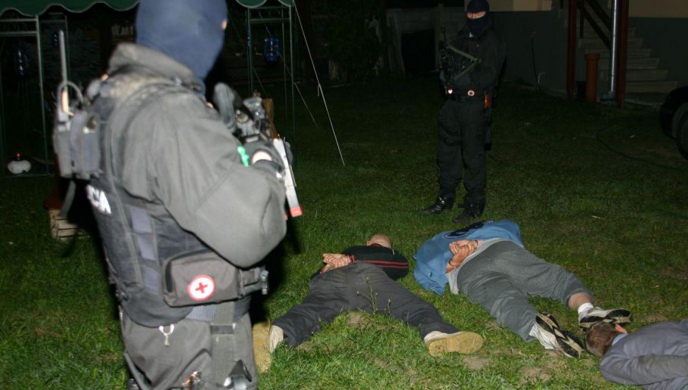 Zatrzymanie członków gangu ożarowskiego (fot. materiały policyjne)