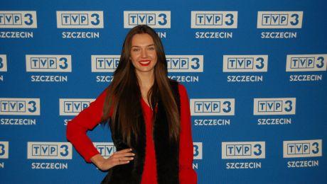 Oktawia Kaźmierczak w TVP3 Szczecin, fot. Joanna Toszek