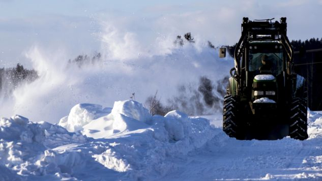 W Norwegii temperatura spadła do - 40 st. C. (fot. EPA/VIDAR RUUD NORWAY)