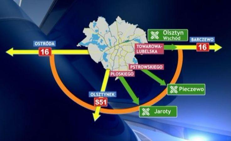 Budowana południowa obwodnica Olsztyna ma się łączyć z miastem za pomocą trzech dróg dochodzących do węzłów