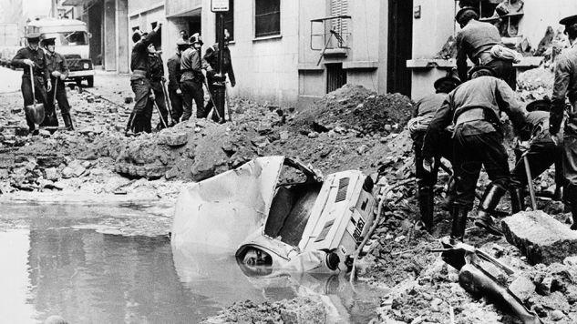 Luis Carrero Blanco zginą 20 grudnia 1973 roku w Madrycie (fot. Keystone/Getty Images)