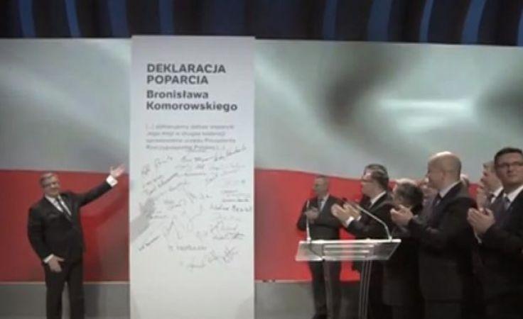 Bruski poparł prezydenta RP podczas służbowego wyjazd