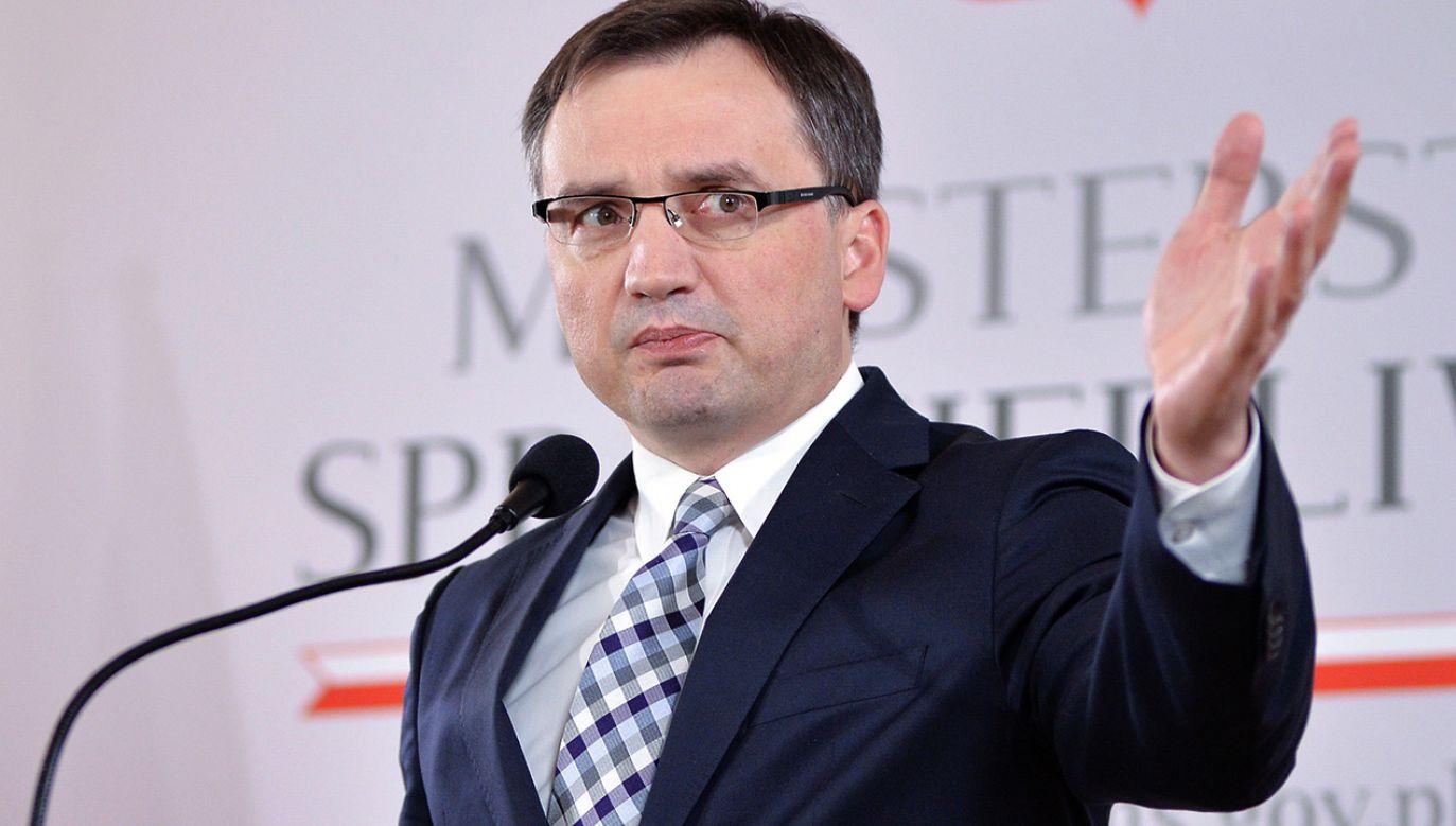 Minister sprawiedliwości, prokurator generalny Zbigniew Ziobro (fot. PAP/Marcin Kmieciński)