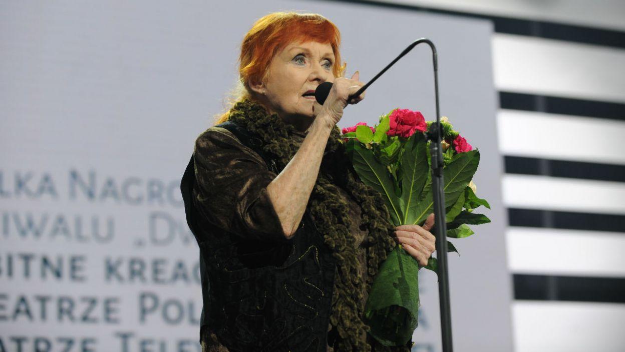 Barbara Krafftówna została uhonorowana Wielką Nagrodą festiwalu za wybitne kreacje Aktorskie w Teatrze Polskiego Radia i Teatrze Telewizji Polskiej  (for. N. Młudzik/TVP)