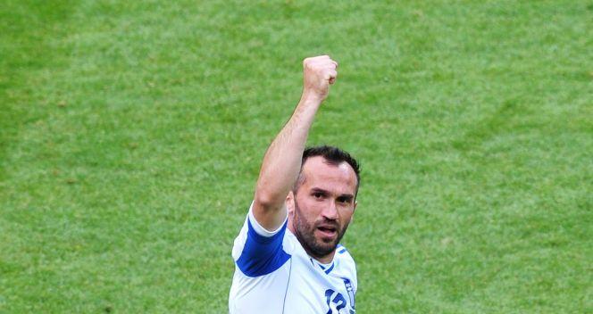 Fanis Gekas zdobył jedyną bramkę dla Greków (fot. Getty)