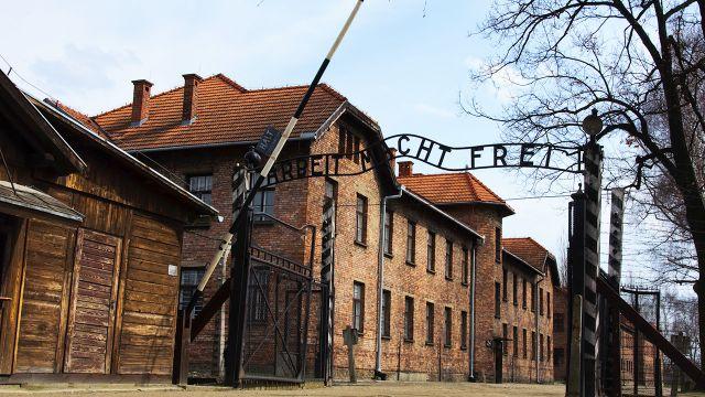 Młody Żyd oddał mocz na pomnik ofiar w obozie Auschwitz-Birkenau