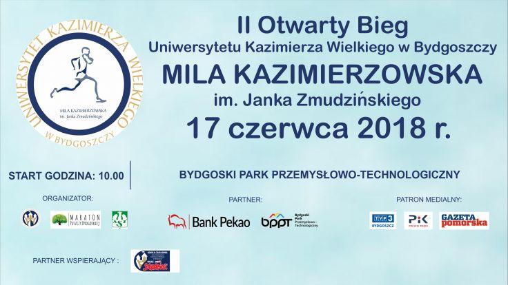 """II Otwarty Bieg UKW """"Mila Kazimierzowska"""""""