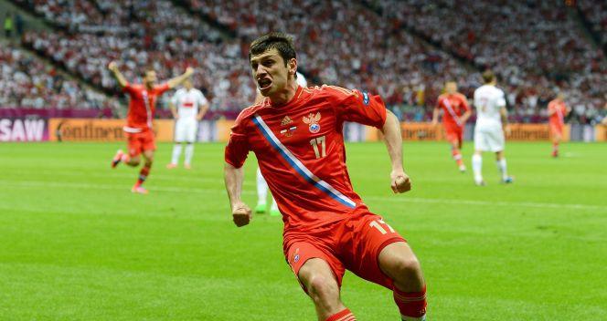 Rosyjski snajper ma już na swoim koncie trzy gole strzelone w Euro 2012 (fot. Getty)