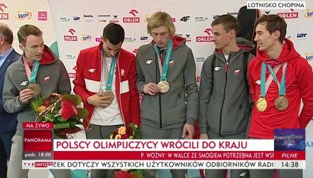 Konferencja prasowa polskich skoczków narciarskich