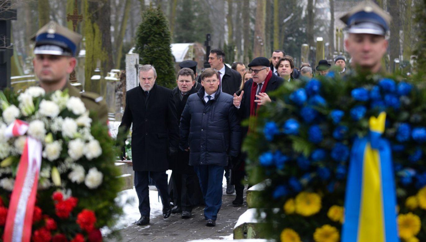 Wicepremier Piotr Gliński i wicepremier Ukrainy Pawło Rozenko spotkali się w Warszawie (fot. PAP/Jakub Kamiński)