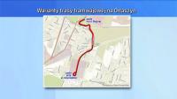 Pierwszy wariant trasy (fot. TVP3 Wrocław)
