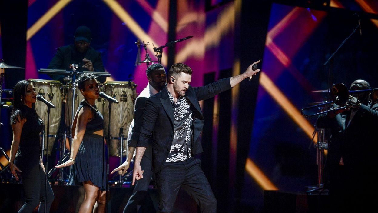 Gwiazdą specjalną wielkiego finału Eurowizji był  Justin Timberlake (fot. PAP\EPA)