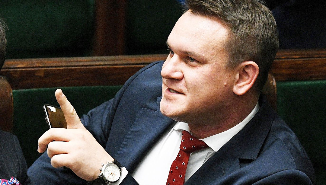 Poseł PiS Dominik Tarczyński (fot. arch.PAP/Radek Pietruszka)