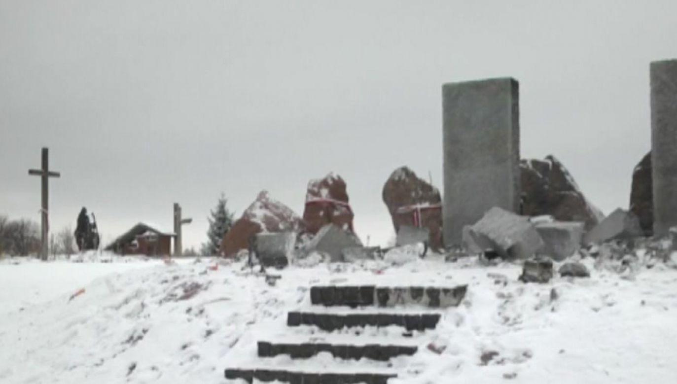 Zbrodnia w Hucie Pieniackiej została dokonana przez oddziały UPA i SS Galizien 28 lutego 1944 roku (fot. TVP Info)