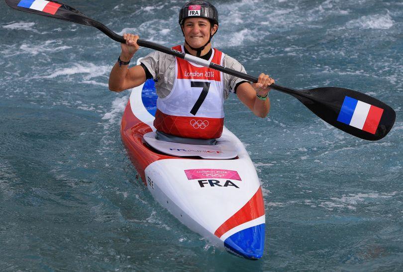 Emilie Fer zadowolona po swoim przejeździe (fot. Getty Images)