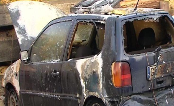 Trzy kolejne samochody spaliły się w Gdańsku