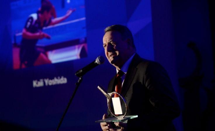 Nagrody odebrał prezes Olimpii-Unii Józef Mularczyk (fot. PAP)