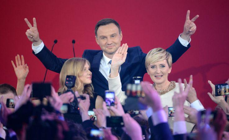 Andrzej Duda, Kinga Duda, Agata Kornhauser-Duda fot. PAP/Jacek Turczyk